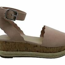 Marc Fisher Womens Faitful Suede Peep Toe Casual Ankle Strap Blush Size 8.5 Yv Photo