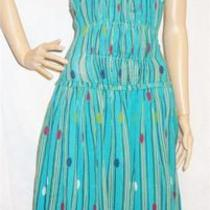 Marc Jacobs  298 Auth Gorgeous Designer Aqua Gauzy Art Deco Dress  Sz 4  New Photo