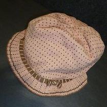 Marc Jacobs Auth 100% Cotton Hat Pale Peach & Beige New Photo
