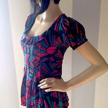 Marc Jacobs Beautiful Vivid Stained Glass Top Nwot Fits Xs-6 Stunning & Vibrant Photo