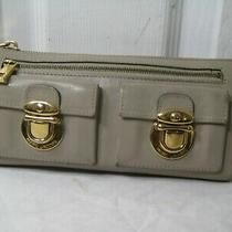 Marc Jacobs Beige Leather Wallet Clutch  Photo