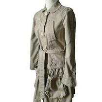 Marc Jacobs Beige Trench Mac Coat Size S Uk 8 10 Cotton Unlined Broken Button Photo