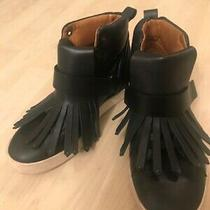 Marc Jacobs Black Leather Trainer Ankle Boots-Fringe  Design - Size 37 / Uk 4  Photo