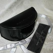 Marc Jacobs Black Sunglasses/eyeglasses Large Glossy Case With Cloth. New. Photo