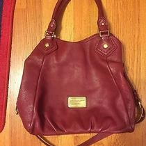 Marc Jacobs Burgandy Classic Q Small Francesca Pebbled Leather Tote Handbag Photo