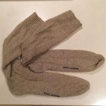 Marc Jacobs Cashmere Wool Khaki Slouchy Grunge Socks Size Medium Photo