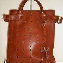Marc Jacobs Cognac Perforated Leather Tote Handbag Photo