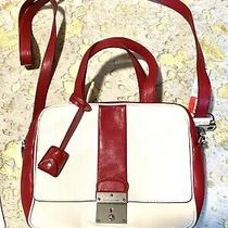 Marc Jacobs Collection Domino Bag Colorblock Red & Ivory (White) Leather Purse Photo