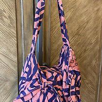 Marc Jacobs Coral Purple Print Hobo Bow Bag Photo