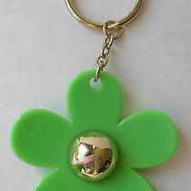 Marc Jacobs Daisy Key Ring Key Chain Green Flower  Photo