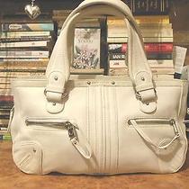 Marc Jacobs Genuine Leather White Bag W/ Zipper Detail. Fabulous  Photo