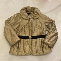 Marc Jacobs Gold Puffer Jacket Short Button Xs Photo