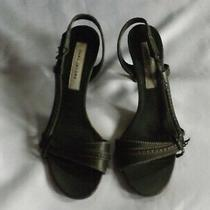 Marc Jacobs Green Leather Open Toe Sling Back Sandals Size 37.5 Photo
