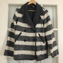 Marc Jacobs Grey & White Striped Coat Size Small Photo