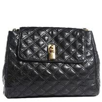 Marc Jacobs Lacquered Lambskin Baroque the Xl Single Flap Black Photo