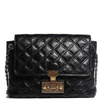 Marc Jacobs Lacquered Lambskin Quilted Large Baroque Single Flap Black Photo