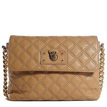 Marc Jacobs Lacquered Lambskin Quilted the Large Single Flap Camel Photo