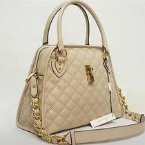 Marc Jacobs Lacquered Quilting Class Goatskin Satchel Shoulder Bag Ivory Nwt Photo