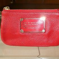 Marc Jacobs Ladies Red Leather Zip Up Coin Purse With Keyring Bnwot Rrp115 Photo