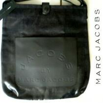Marc Jacobs Logo Laminated Denim Navy & Grey Gray Denim Messenger Large Bag Photo