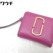 Marc Jacobs M0013360 Leather Snapshot Bi-Fold Wallet Pink Red Women 'S Photo