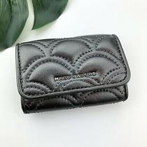 Marc Jacobs Metallic Gray Quilted Leather 6-Ring Key Holder Photo
