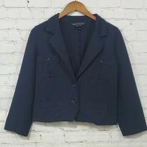 Marc Jacobs Navy Blue Military Peacoat Blazer Women's Size Large Photo
