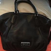 Marc Jacobs New Q Fran  Leather Tote Satchel -India Ink- Navy-Hard 2 Find Color Photo