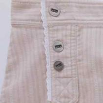 Marc Jacobs - Nordstrom Cotton Blush Pink Skirt - White Ruffle Trim Hem - Size 4 Photo