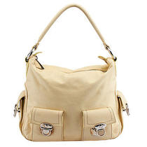 Marc Jacobs Off White Leather Hobo Photo