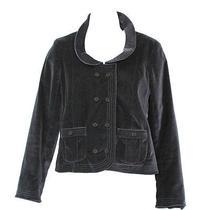 Marc Jacobs Round Collar Black Velvet Jacket 6 Photo