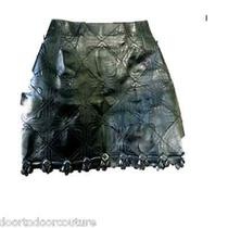 Marc Jacobs Runway Leather High End Leather Designer Skirt Couture Leather Mini Photo