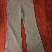 Marc Jacobs Sage Green Flare Flat Front Pants Size 12 Photo