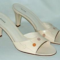 Marc Jacobs Sandals - Size 8 M - New in Box Polka Dot Heels Slides Shoes Nude Photo