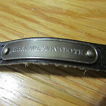 Marc Jacobs Serva Me Servabote Save Me I Save You Leather Latin Bracelet Small Photo
