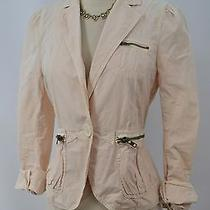 Marc Jacobs Stretch Cotton Jacket Top Light Crop Coat Blush Zip Size S M Vtg New Photo
