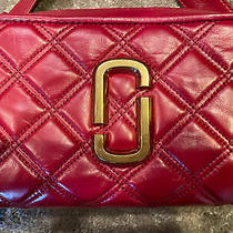 Marc Jacobs the Quilted Softshot 2 Small Crossbody Camera Bag Red Photo