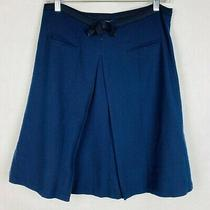 Marc Jacobs Women's Size 10 Blue Wool Lined Circle Skirt Photo
