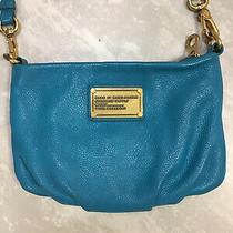 Marc Jacobs Workwear Aqua Turquoise Small Crossbody Purse Shoulder Bag - Euc Photo