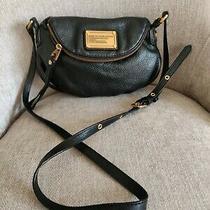 Marc Marc Jacobs Black Leather Classic.  Crossbody Shoulder Bag. Photo