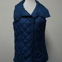 Marc New York Andrew Marc Blue Quilted Zippered Front Vest Small  Photo