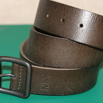 Marc New York Andrew Marc Brown Genuine Leather Mens Casual Belt Size 40/100 New Photo