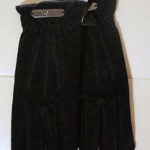 Marc New York Andrew Marc Leather Iphone Smartphone Black Gloves Size M Photo