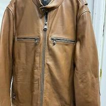 Marc New York Andrew Marc Leather Jacket Men's Brown Rust Large New Nwt 450 Photo