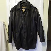 Marc New York Long Leather Jacket / Coat Insulated - Large L Photo