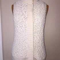 Marc New York Marc Jacobs Vest Sweater White Nwot Very Nice Medium Free Ship 4 Photo