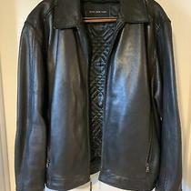 Marc New York Mens Black Leather Jacket Size Xxl Used Photo