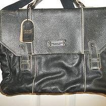 Marc New York Retrocalf Leather Computer  Bag Black Photo