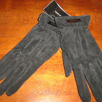 Marc New York Suede Women's Smartphone Iphone Gloves Size Medium Black Nwt Photo