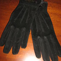 Marc New York Suede Women's Smartphone Iphone Gloves Size Small Black Nwot  Photo